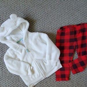 Carter's hoodie sweater set 18 months